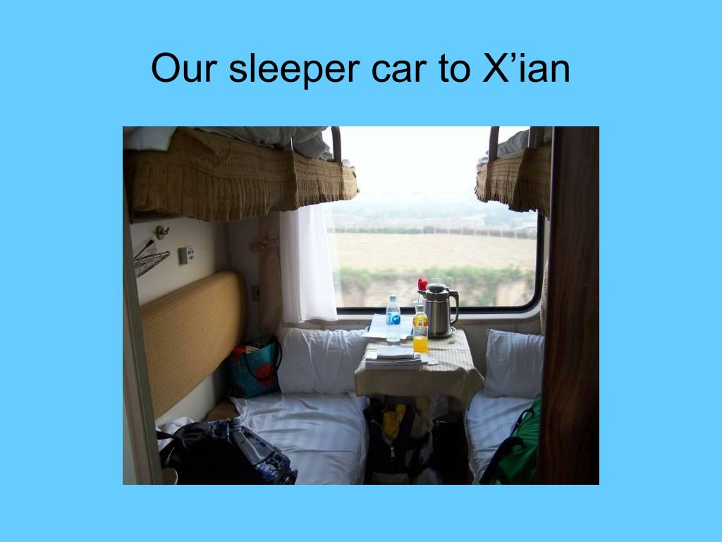 Our sleeper car to X'ian