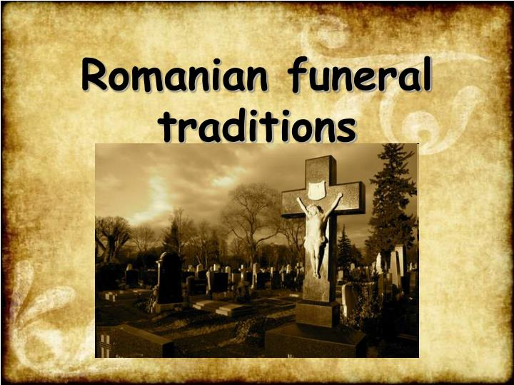 romanian funeral traditions n.
