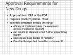approval requirements for new drugs