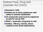 federal food drug and cosmetic act 1915
