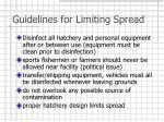 guidelines for limiting spread