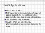 inad applications