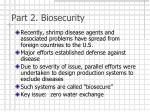 part 2 biosecurity
