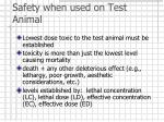 safety when used on test animal