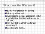 what does the fda want