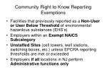 community right to know reporting exemptions