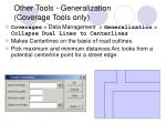 other tools generalization coverage tools only