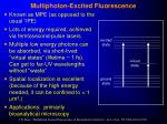 multiphoton excited fluorescence