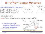 b g d 0 k decays motivation