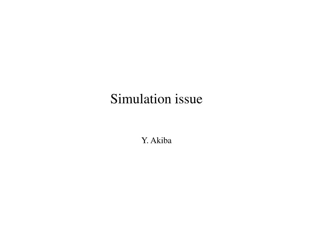 simulation issue