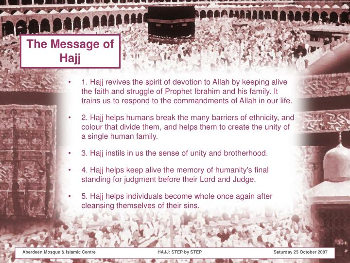 The Message of Hajj