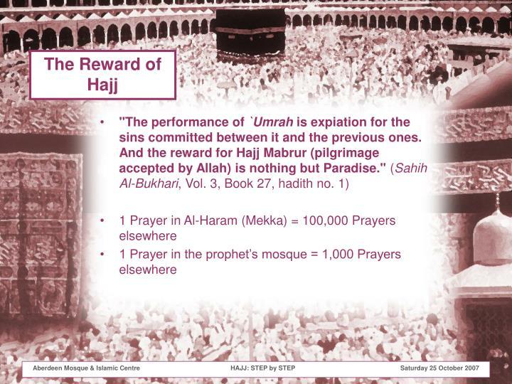 The Reward of Hajj