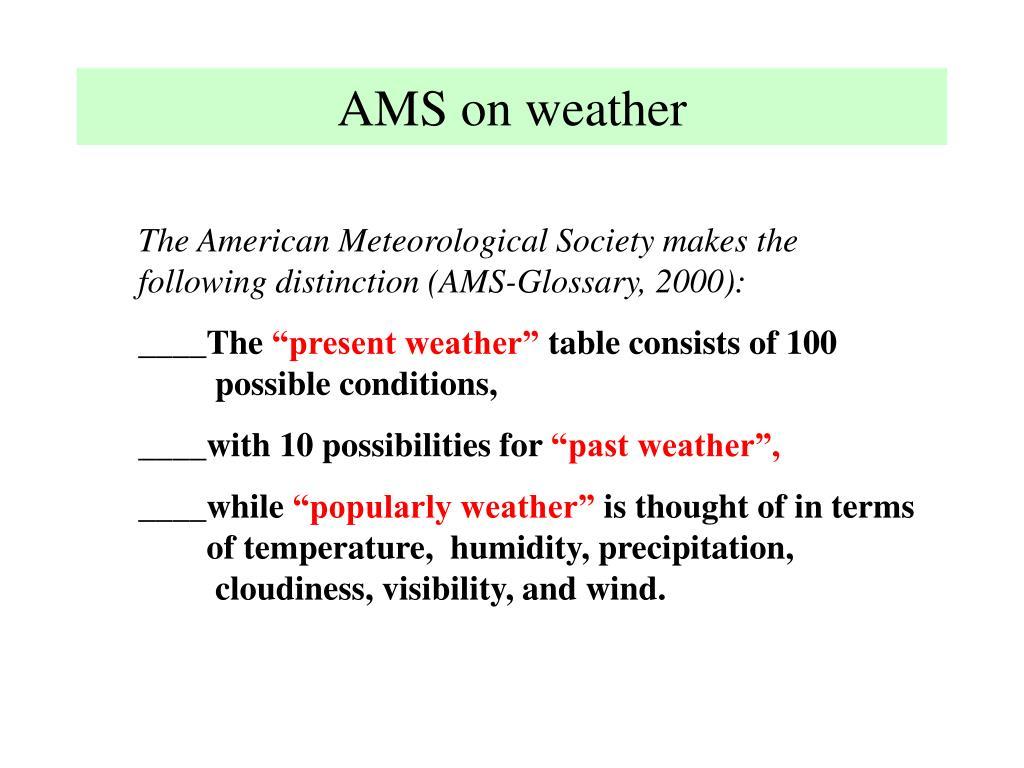 AMS on weather