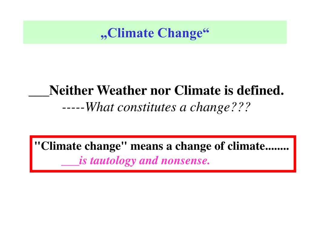 """""""Climate Change"""""""