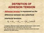 definition of adhesion tension
