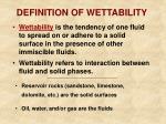 definition of wettability