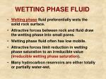 wetting phase fluid