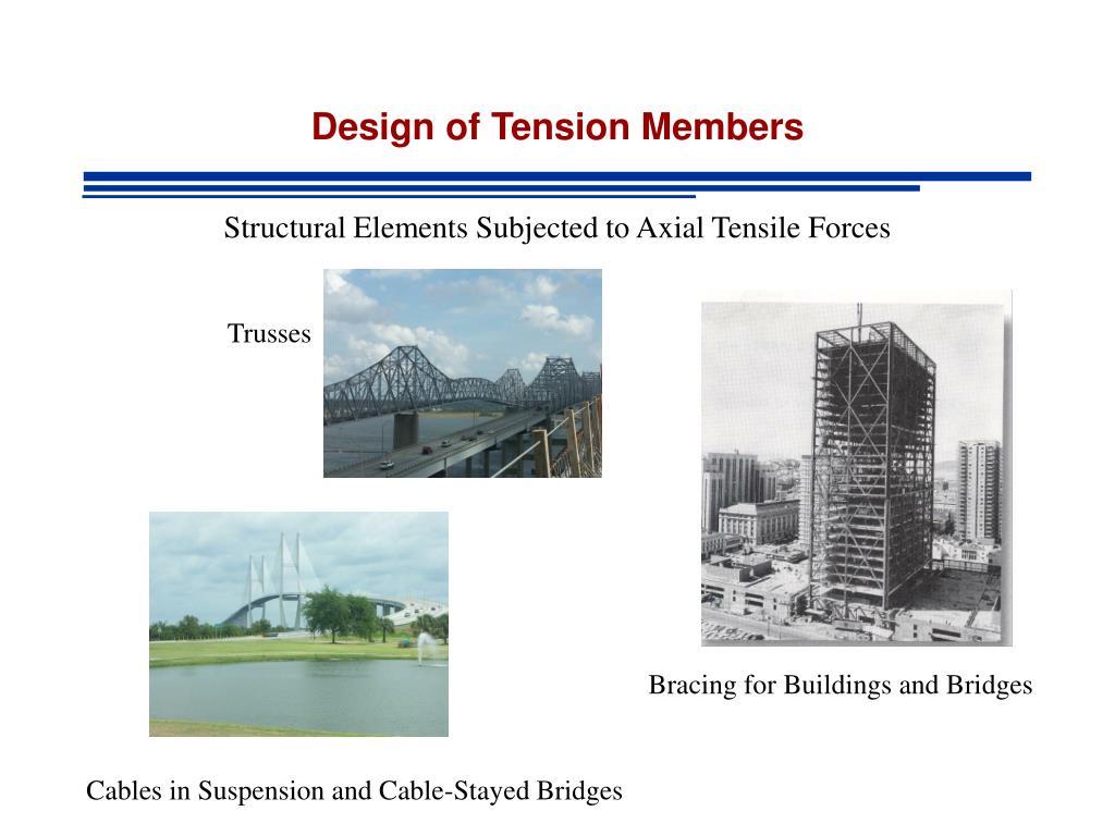 design of tension members n.