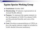 equine species working group