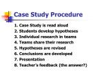 case study procedure