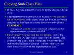 copying stub class files