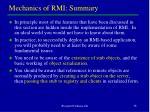 mechanics of rmi summary