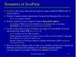 semantics of javaparty