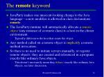 the remote keyword