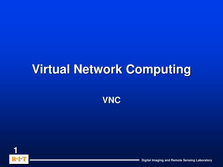 virtual network computing n.