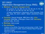 iso 20022 registration management group rmg