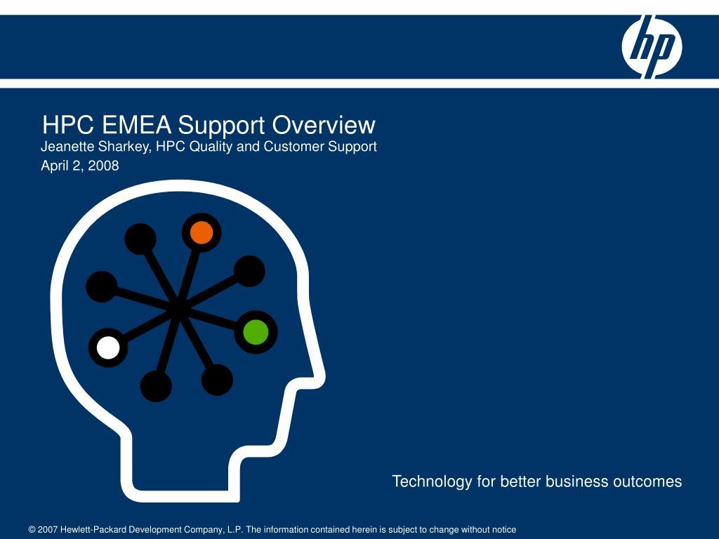 hpc emea support overview l.
