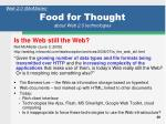 food for thought about web 2 0 technologies