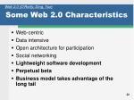 some web 2 0 characteristics