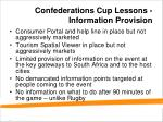 confederations cup lessons information provision