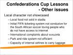 confederations cup lessons other issues
