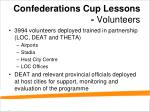 confederations cup lessons volunteers