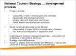 national tourism strategy development process