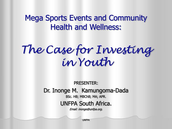 mega sports events and community health and wellness the case for investing in youth n.