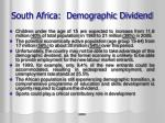 south africa demographic dividend