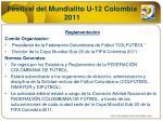 festival del mundialito u 12 colombia 2011