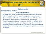 festival del mundialito u 12 colombia 20115