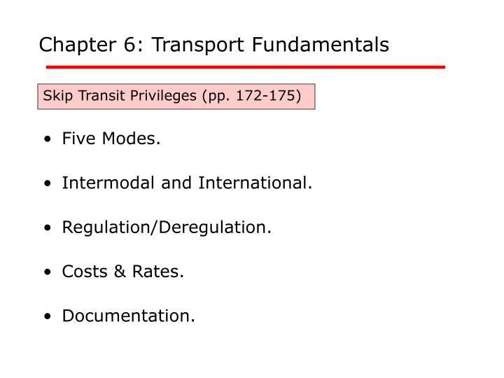 chapter 6 transport fundamentals n.