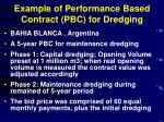 example of performance based contract pbc for dredging