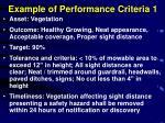 example of performance criteria 1