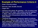 example of performance criteria 6