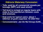hidrovia waterway concession1