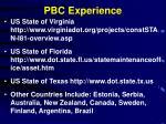 pbc experience
