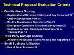 technical proposal evaluation criteria