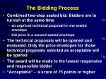 the bidding process