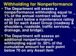 withholding for nonperformance
